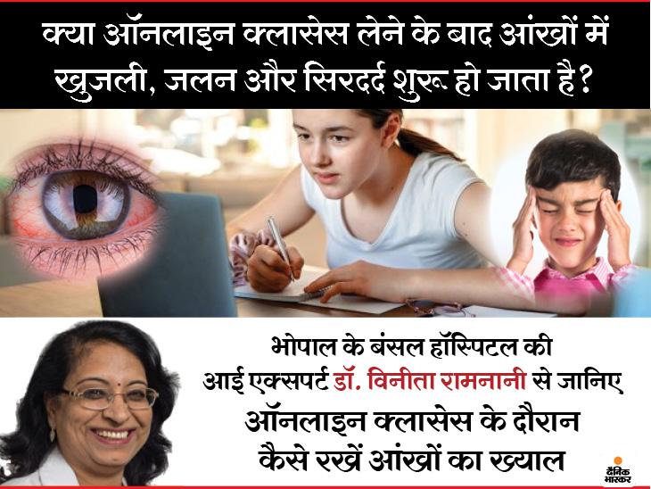 लैपटॉप के मुकाबले मोबाइल से आंखों पर बुरा असर पड़ने का खतरा दोगुना, आंखों में खुजली और सिरदर्द से बचने के लिए ध्यान रखें एक्सपर्ट की ये बातें|लाइफ & साइंस,Happy Life - Dainik Bhaskar