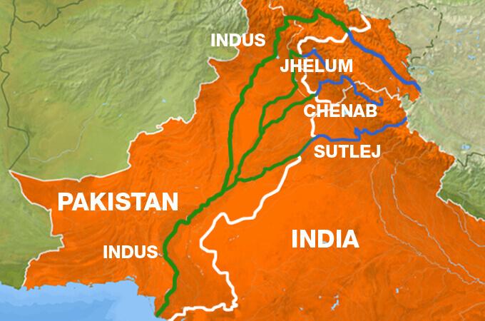 सिंधु जल समझौते में शामिल है सिंधु नदी की सहायक नदियां।