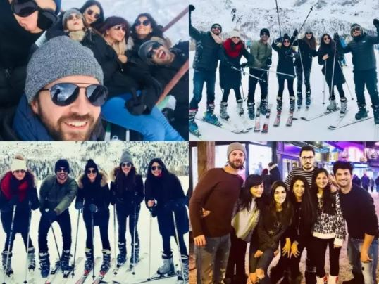 Sushant-Kriti during a trip to Switzerland.