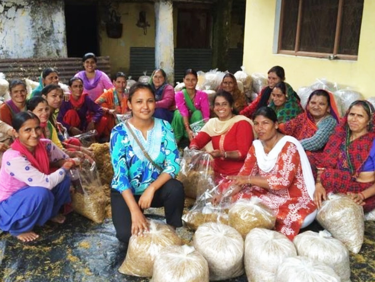 Divya also employed local women through mushroom cultivation.