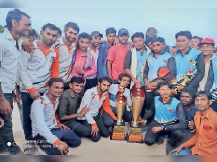 क्रिकेट प्रतियोगिता में बीकेटी ने जीता खिताब बाड़मेर,Barmer - Dainik Bhaskar
