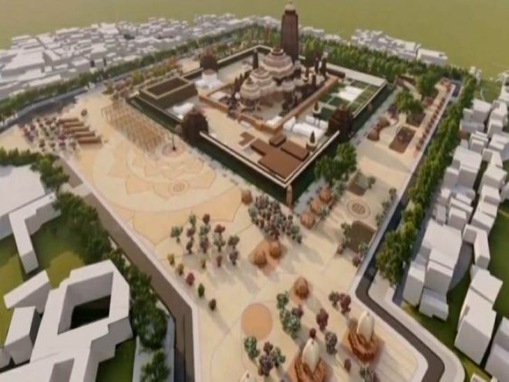 ग्रेटर लंदन में बनने वाले जगन्नाथ मंदिर का प्रस्तावित डिजाइन ये हैं, जो पुरी स्थित मंदिर से मिलता-जुलता ही है। - Dainik Bhaskar