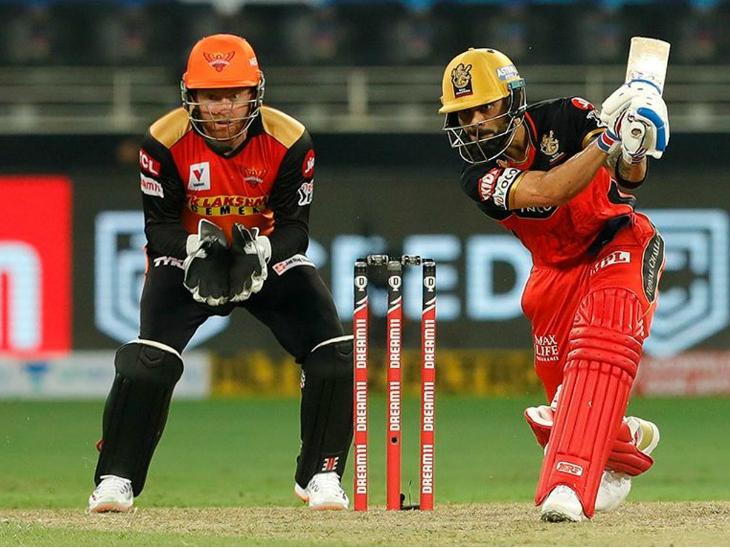 आरसीबी के कप्तान विराट कोहली 6 महीने बाद क्रीज पर उतरे। हालांकि, उन्होंने निराश किया और सिर्फ 14 रन पर आउट होकर पवेलियन लौट गए।