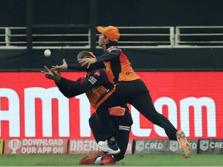 11वें ओवर की पहली बॉल पर 53 के निजी स्कोर पर पडिक्कल को जीवनदान मिला। बाउंड्री पर फैबिएन एलिन और अभिषेक शर्मा ने उनका कैच छोड़ा।