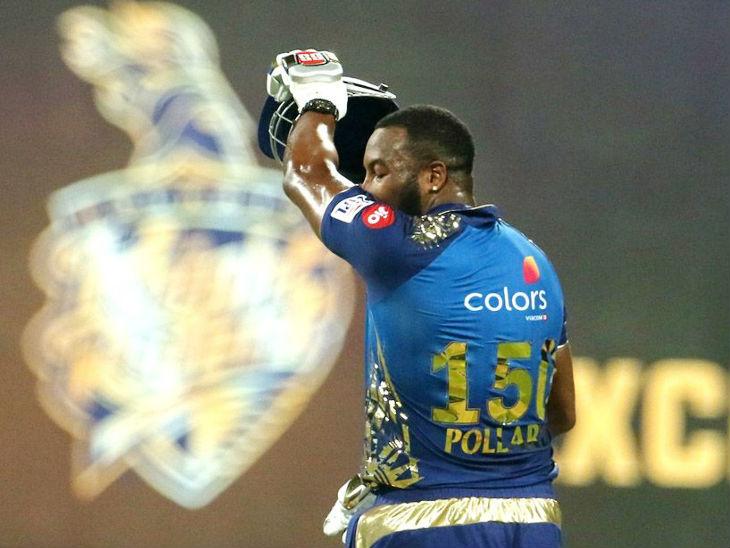 मुंबई के ऑलराउंडर कीरोन पोलार्ड ने आईपीएल में अपना 150वां मैच खेला।