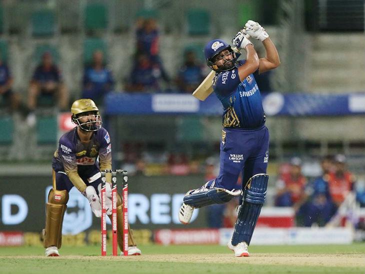 रोहित शर्मा ने मैच में 6 छक्कों की मदद से 80 रन की पारी खेली।