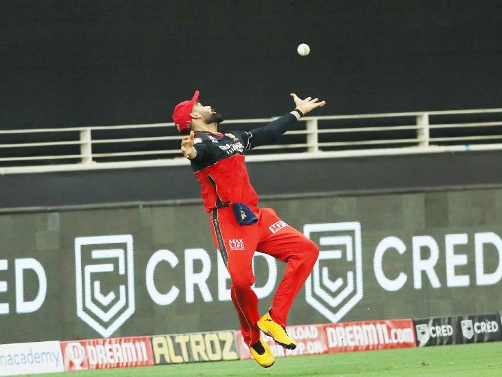 बेंगलुरु के कप्तान विराट कोहली ने लगातार दो ओवर में पंजाब टीम के कैप्टन लोकेश राहुल के 2 कैच छोड़े। - Dainik Bhaskar