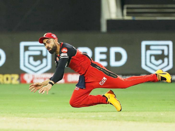 18वें ओवर की आखिरी बॉल पर कोहली ने राहुल का बाउंड्री पर दूसरा कैच छोड़ा। नवदीप सैनी का ओवर था। इस समय राहुल 89 रन बनाकर खेल रहे थे।
