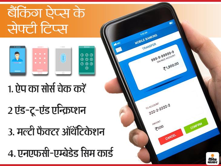 आए दिन लोग हो रहे मोबाइल बैंकिंग फ्रॉड का शिकार, चंद मिनटों में हो रहा अकाउंट खाली; इससे बचने के लिए फॉलो करें ये 6 टिप्स|टेक & ऑटो,Tech & Auto - Dainik Bhaskar