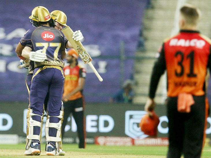 शुभमन गिल और इयोन मोर्गन ने चौथे विकेट के लिए 92 रन की नाबाद पार्टनरशिप की।
