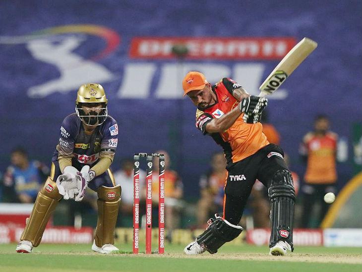 हैदराबाद के लिए मनीष पांडे ने सबसे ज्यादा 51 रन की पारी खेली।
