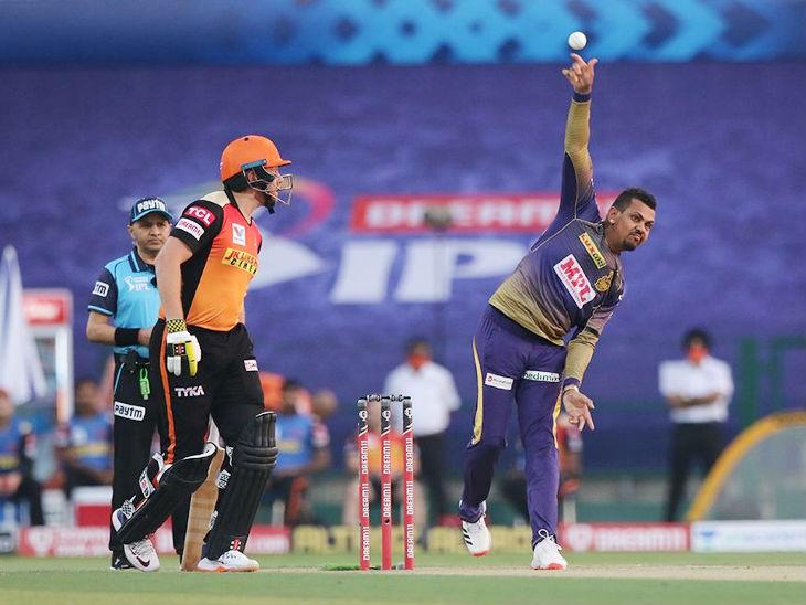 सुनील नरेन ने 4 ओवर में 31 रन दिए, लेकिन वे विकेट नहीं ले सके।