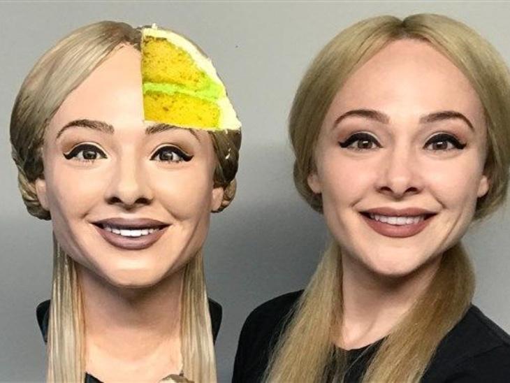 Texas 'Natalie's selfie cake' viral on social media. She made hyper realistic cake | टेक्सास की नताली का 'सेल्फी केक' सोशल मीडिया पर हुआ वायरल, हाइपर रियलिस्टिक केक के ट्रेंड को नई ऊंचाईयां देने के लिए ईजाद किया इसे