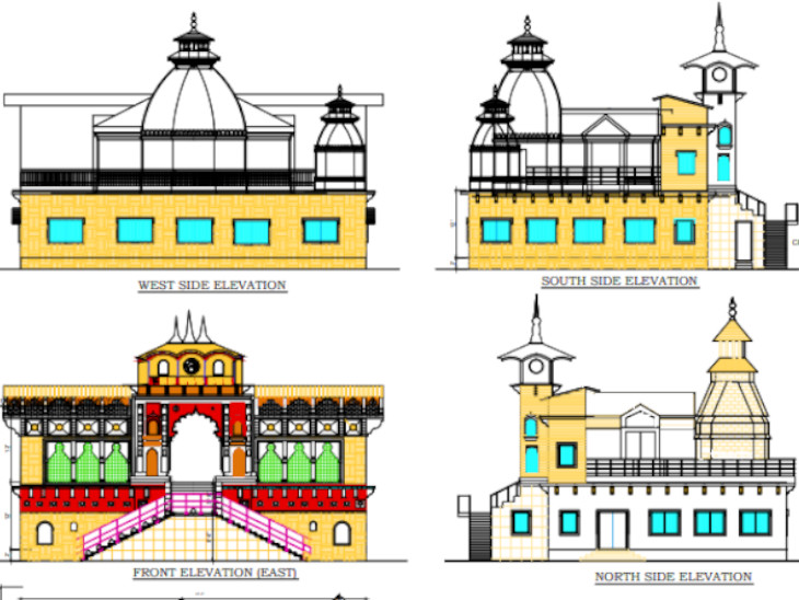हैदराबाद में बन रहा मंदिर कुछ ऐसा दिखाई देगा। ये भक्तों के लिए सालभर खुला रहेगा।
