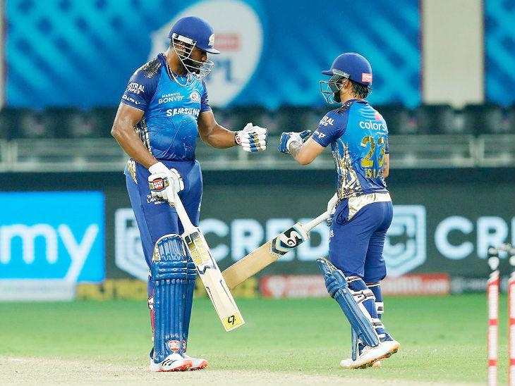 पोलार्ड और ईशान ने 5वें विकेट के लिए 119 रन पार्टनरशिप की। आखिरी 5 ओवर में दोनों ने मिलकर 89 रन बनाए।