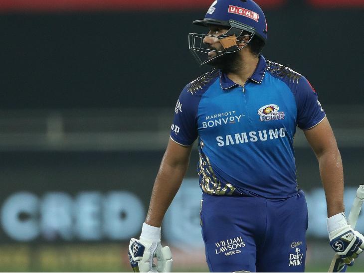 मुंबई के कप्तान रोहित शर्मा भी इस मैच फ्लॉप रहे। रोहित 8 रन ही बना सके।