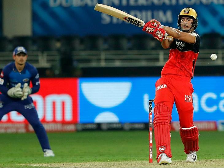 बेंगलुरु के शिवम दुबे ने शानदार पारी खेली। 27 रन की पारी में उन्होंने 3 छक्के लगाए।