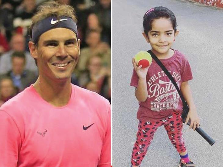 Video of five-year-old tennis player Vivikatha goes viral, Rafael Nadal praises this girl, who is fond of playing tennis like her parents | पांच साल की टेनिस खिलाड़ी विविकथा का वीडियो हुआ वायरल, अपने पैरेंट्स की तरह टेनिस खेलने की शौकीन इस बच्ची को देखकर राफेल नडाल ने की तारीफ