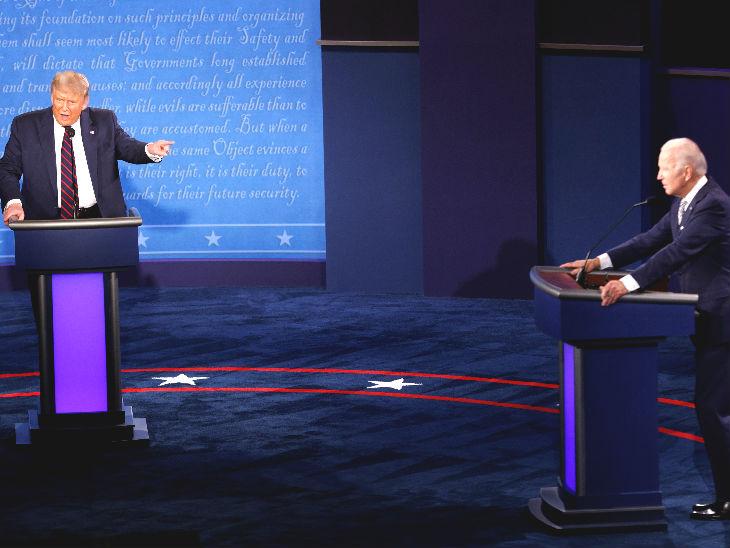 90 मिनट की बहस में दोनों उम्मीदवारों ने एक-दूसरे पर जमकर आरोप लगाए।