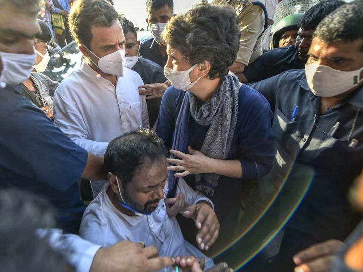 प्रियंका भीड़ के बीच पहुंचीं और पुलिस पिटाई में घायल कार्यकर्ताओं की मदद की। इस दौरान यूपी पुलिस प्रियंका गांधी के साथ भी बदतमीजी करने से पीछे नहीं हटी।