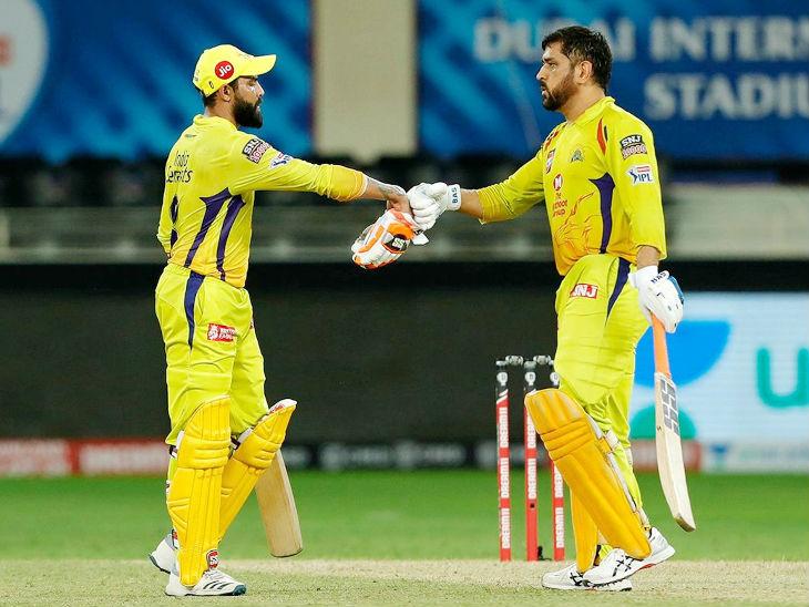 धोनी ने रविंद्र जडेजा के साथ 5वें विकेट के लिए 56 बॉल पर 72 रन की पार्टनरशिप की थी।