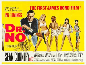 जेम्स बॉन्ड पर बनी पहली फिल्म का पोस्टर।