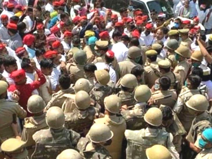 सपा के 5 नेताओं को पीड़ित के परिवार से मिलने की इजाजत, रालोद उपाध्यक्ष भी परिजन से मिले; सपा-रालोद कार्यकर्ताओं पर लाठीचार्ज|उत्तरप्रदेश,Uttar Pradesh - Dainik Bhaskar