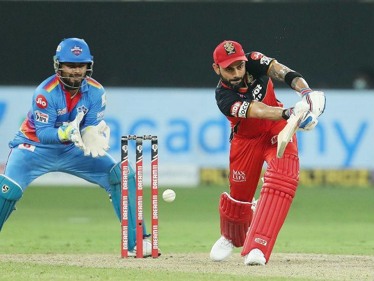 இந்த போட்டியில் கோஹ்லி 43 ரன்கள் எடுத்தார், ஆனால் பெங்களூரை வெல்ல முடியவில்லை.  இந்த போட்டியில் டெல்லி கேபிடல்ஸ் 59 ரன்கள் வித்தியாசத்தில் வெற்றி பெற்றது.