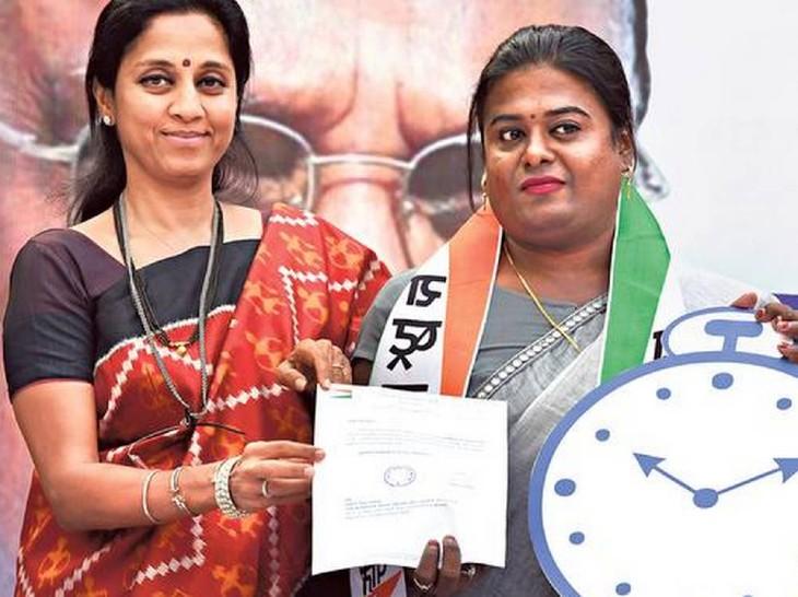 मार्च 2019 में सुप्रिया सुले ने ही उन्हें राकांपा में एंट्री दिलवाई थी।