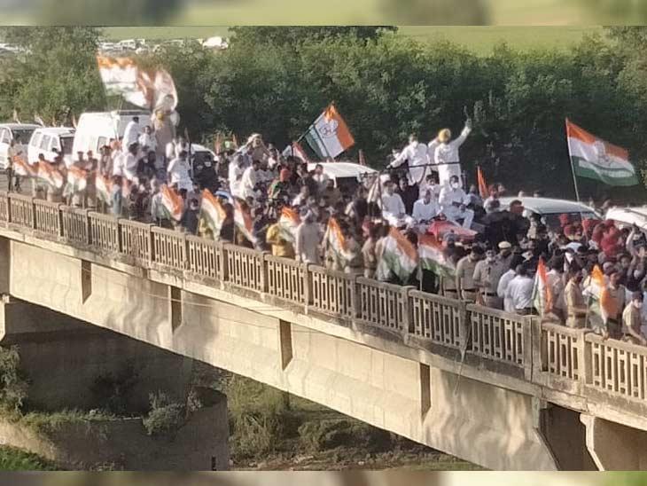 कांग्रेस की ट्रैक्टर रैली पटियाला से निकली थी और हरियाणा के कुरुक्षेत्र में खत्म होगी।
