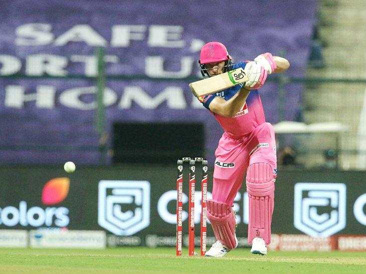 राजस्थान रॉयल्स के लिए ओपनर जोस बटलर ने 44 बॉल पर सबसे ज्यादा 70 रन बनाए।