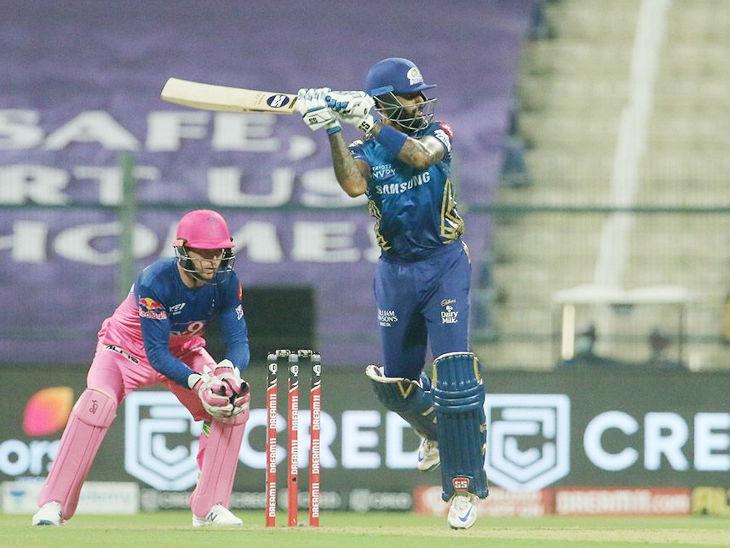 मुंबई के लिए सूर्यकुमार यादव ने 47 बॉल पर सबसे ज्यादा 79 रन की पारी खेली।