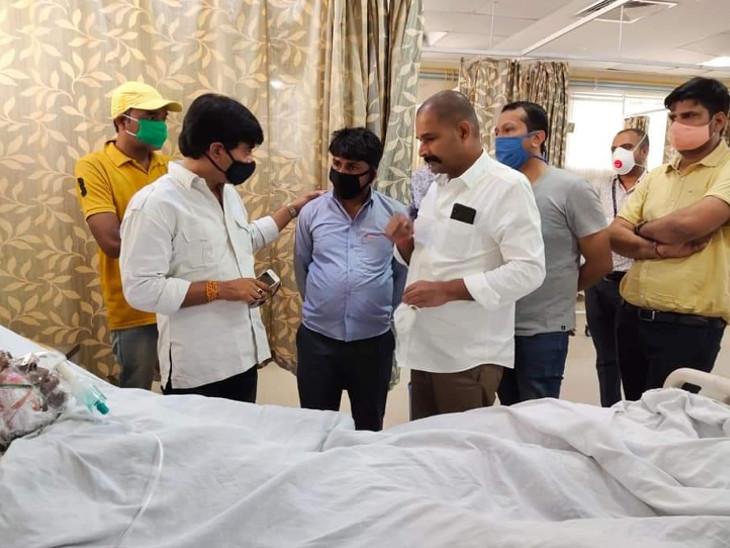 फोटो SMS अस्पताल की है, जब बाबूलाल का इलाज चल रहा था।