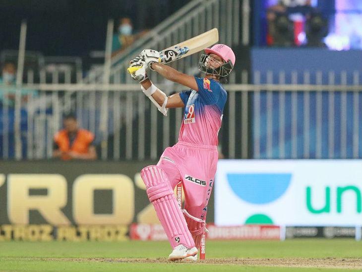 राजस्थान रॉयल्स के लिए यशस्वी जायसवाल ने 36 बॉल पर 34 रन की पारी खेली।