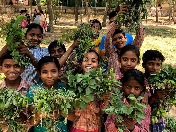 ऑर्गेनिक फार्मिंग के साथ-साथ नेहा बच्चों को खेती के गुर सिखाने के लिए स्कूल भी चलाती हैं।