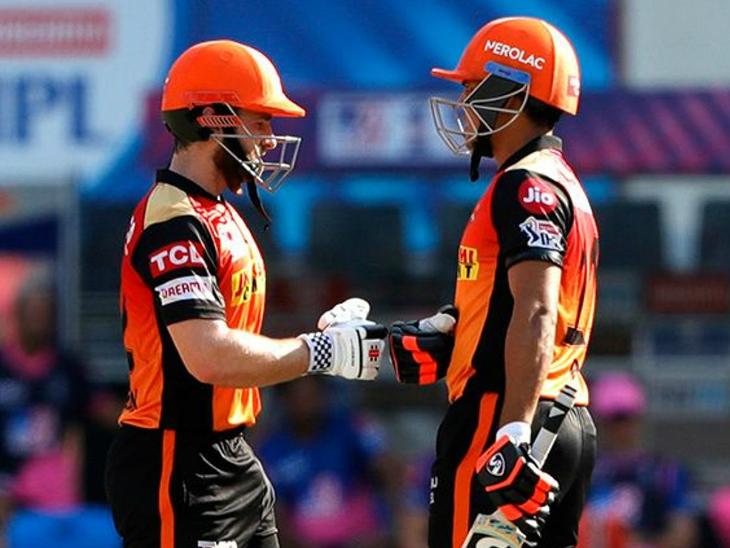 केन विलियम्सन और प्रियम गर्ग ने आखिरी 2 ओवरों में 35 रन बनाकर टीम का स्कोर 150 के पार पहुंचाया।