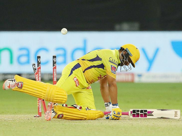 चेन्नई सुपर किंग्स के अंबाती रायडू ने 40 बॉल पर सबसे ज्यादा 42 रन बनाए। इसुरु उडाना ने उन्हें क्लीन बोल्ड किया।