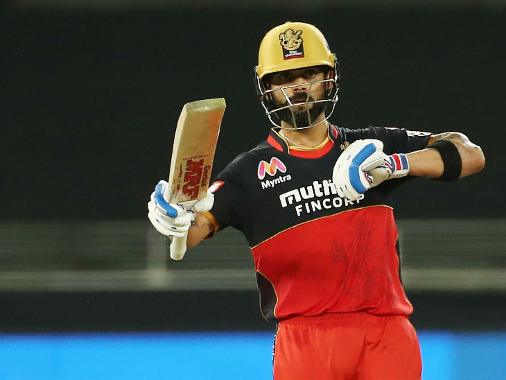विराट कोहली ने मैच में 52 बॉल पर 90 रन की नाबाद पारी खेली।