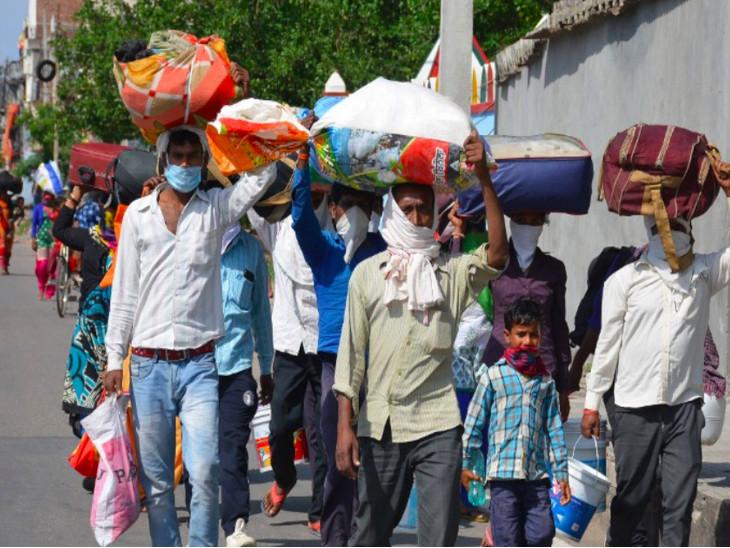 सरकार ने जुलाई में प्रवासी कामगारों को किफायती किराये के आवासों के निर्माण की योजना को मंजूरी दी थी। - Dainik Bhaskar