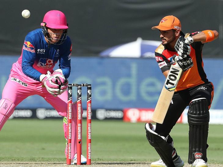 मनीष पांडे ने आईपीएल में अपने 3000 रन पूरे किए। उन्होंने अपनी 17वीं फिफ्टी भी लगाई।