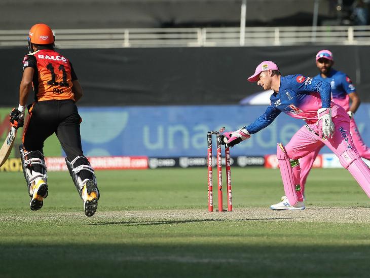 प्रियम गर्ग (15) ने विलियम्सन के साथ 5वें विकेट के लिए 36 रन की अहम पार्टनरशिप की।
