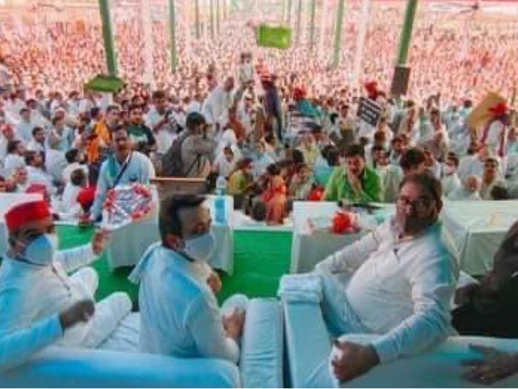 मथुरा में रालोद ने की किसान पंचायत, सपा ने दिया समर्थन, जयंत चौधरी बोले- एक साल में यूपी में तीन हजार से अधिक लड़कियों से रेप हुआ|उत्तरप्रदेश,Uttar Pradesh - Dainik Bhaskar
