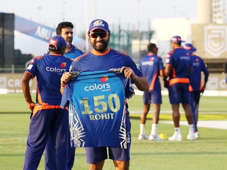 रोहित शर्मा ने मुंबई के लिए 150वां मैच खेला। वे सिर्फ 5 ही रन बना सके, लेकिन उनकी कप्तानी में मुंबई इंडियंस ने दिल्ली कैपिटल्स को 5 विकेट से जीत दर्ज की।
