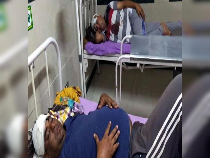 सिविल अस्पताल में उपचाराधीन बाल सुधार घरके मेन गेट पर तैनात सुरक्षाकर्मी।