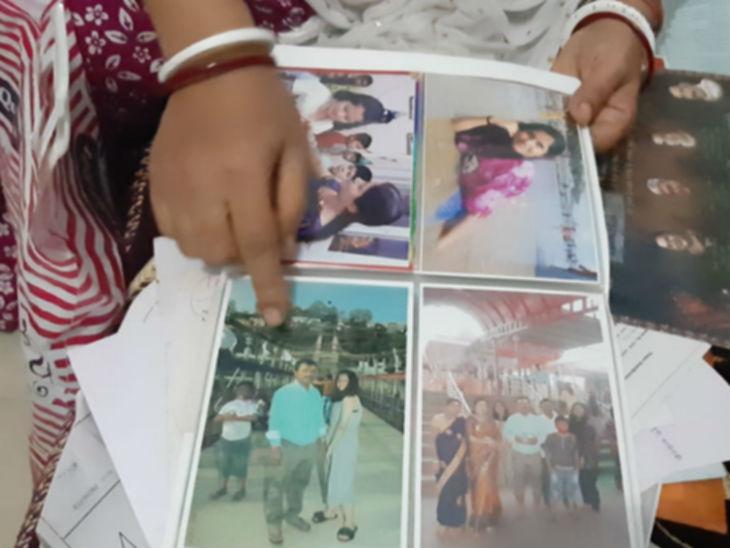 फोटो एल्बम में 12 साल की बच्ची से जुड़ी तस्वीरें।