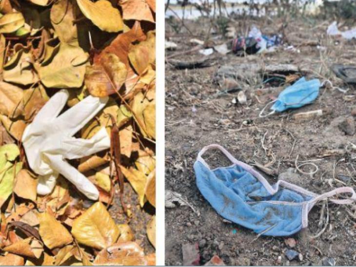 यह तस्वीर चेन्नई के तटीय इलाके की है। मास्क, वाइप्स और ग्लव्स फेंकने की ऐसी ही फोटो देश के अलग-अलग हिस्सों में देखी गई हैं।