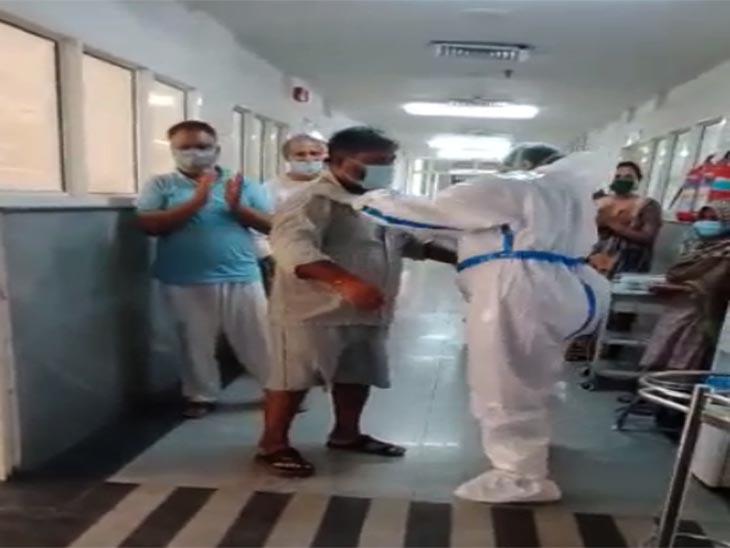 पंचकूला के सिविल अस्पताल में पॉजिटिव मरीजों के साथ डांस करती स्टाफ नर्स