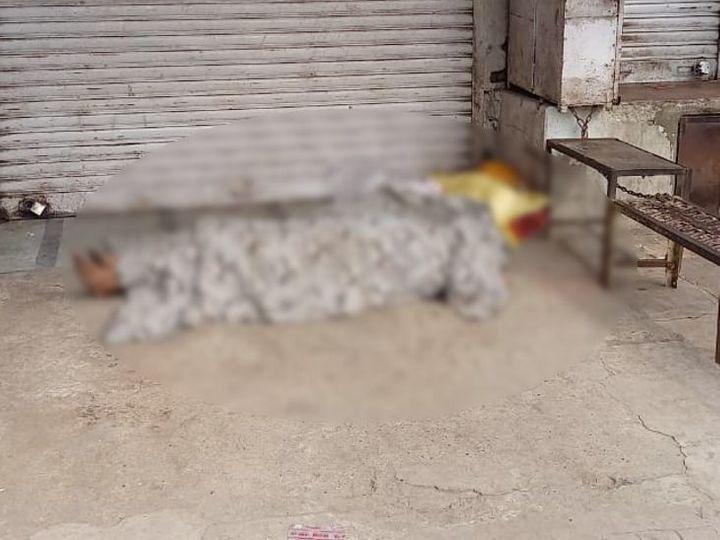 बुधवार को दुकान के शेड के नीचे मृत मिला था मजदूर।