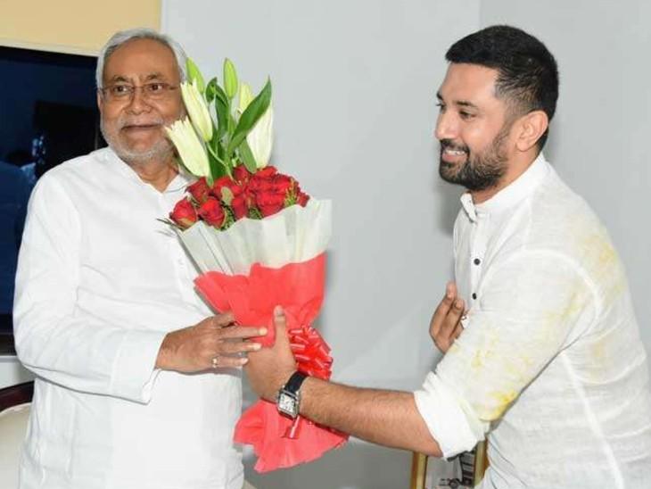 चिराग पासवान ने कहा, हाल के वक्त में मैंने अमित शाह और भाजपा अध्यक्ष जेपी नड्डा के साथ कई बार मुलाकात की लेकिन एक बार भी सीट शेयरिंग का मुद्दा नहीं उठा। (फाइल फोटो) - Dainik Bhaskar