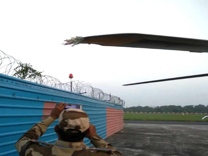 हादसे में हेलिकॉप्टर के विंग्स बुरी तरह क्षतिग्रस्त हो गए।